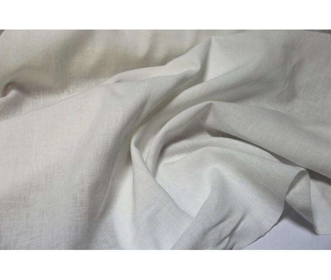 Костюмно-плательная зимняя крапива с начесом (ramie 100%)  ,   цвет молочный