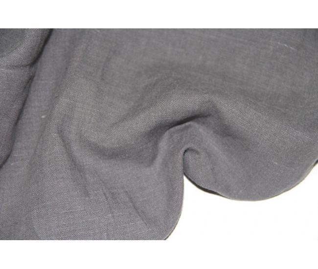 Костюмно-плательная зимняя крапива с начесом (ramie 100%)  ,  цвет серый