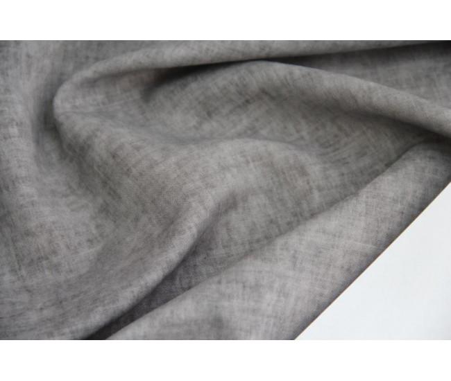 Рубашечно-плательная ткань с печатью (конопля 100%)