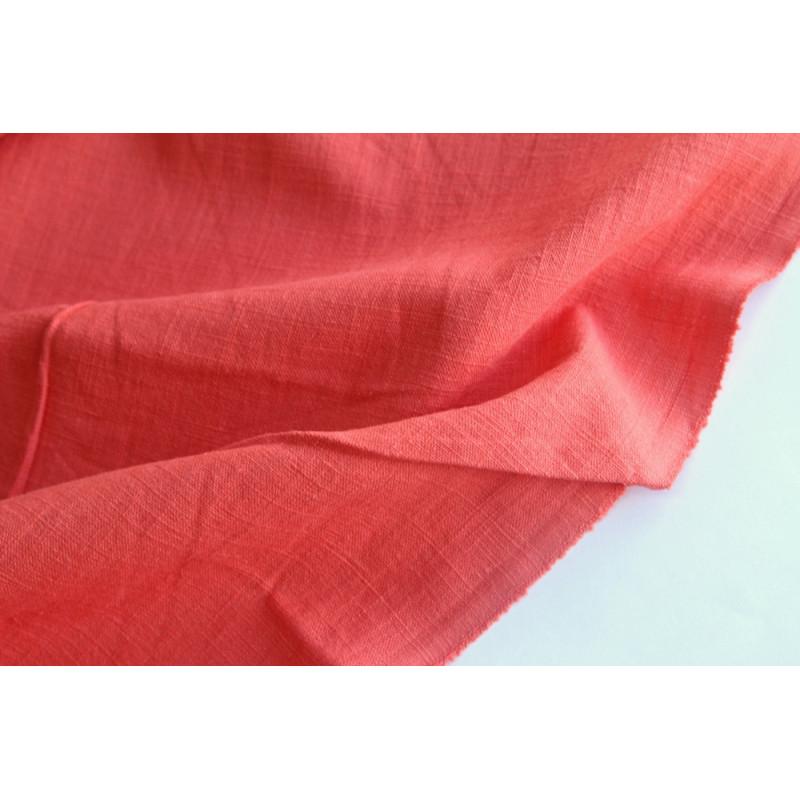 Плательно-костюмная вареная крапива.  Цвет красно оранжевый.