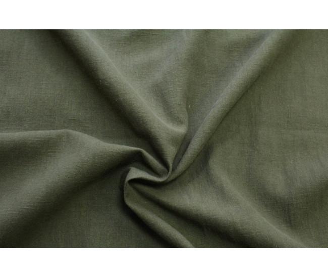 Костюмно-плательная вареная  крапива ,цвет приглушенный хаки