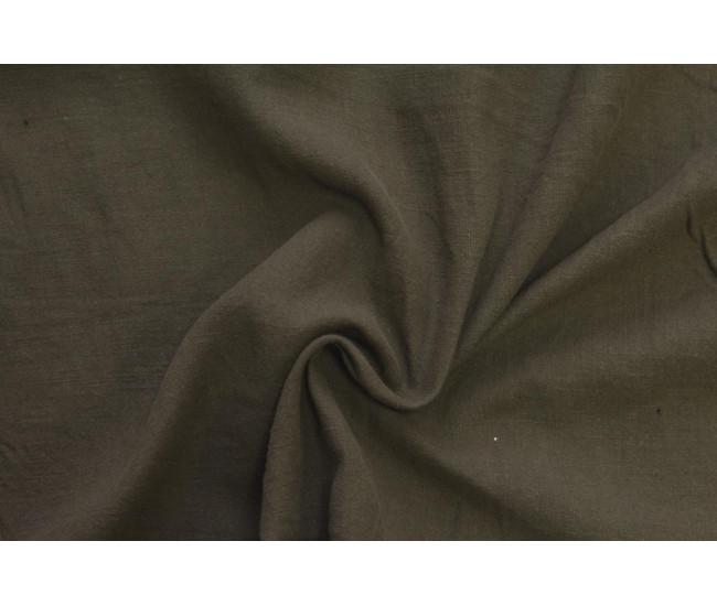 Костюмно-плательная вареная крапива .   Цвет кофейный отрез 1.65м.