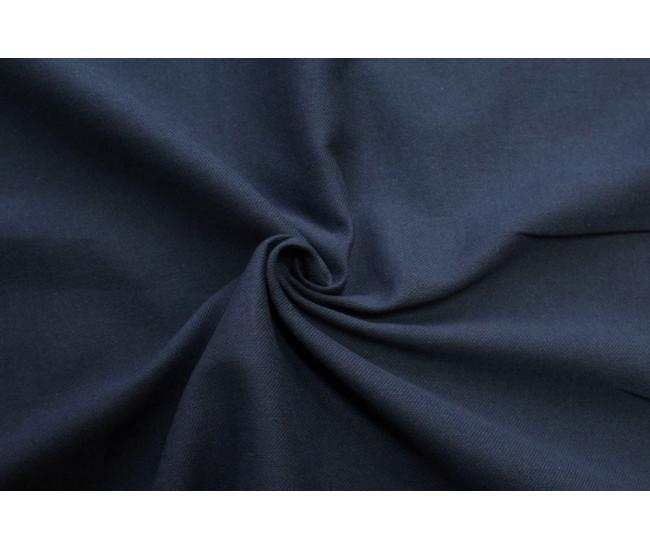 Костюмно-плательная ткань (крапива 60%,хлопок 40%),цвет темно-синий