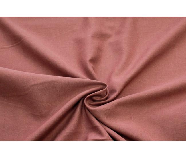 Костюмно-плательная ткань (крапива 60%,хлопок 40%),цвет приглушенный терракот