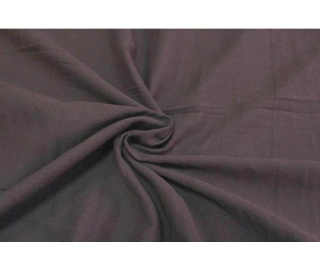 Костюмно-плательная ткань (крапива 60%,хлопок 40%),цвет приглушенный баклажан