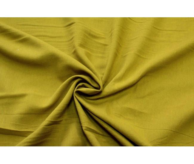 Костюмно-плательная ткань (крапива 60%,хлопок 40%),цвет горчица.