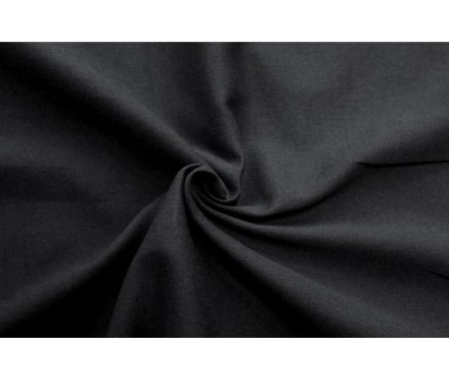Костюмно-плательная ткань (крапива 60%,хлопок 40%),цвет черный