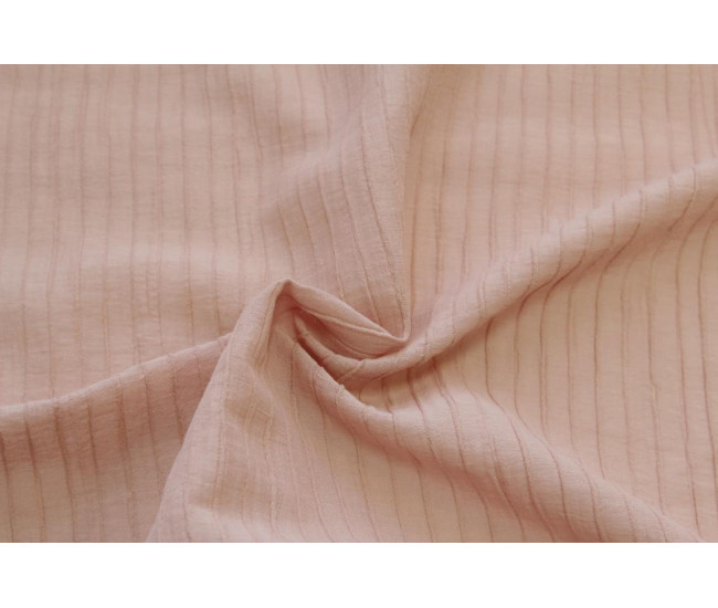 Блузочно-плательная фактурная крапива с эффектом крэш.   Цвет  приглушенный розовый