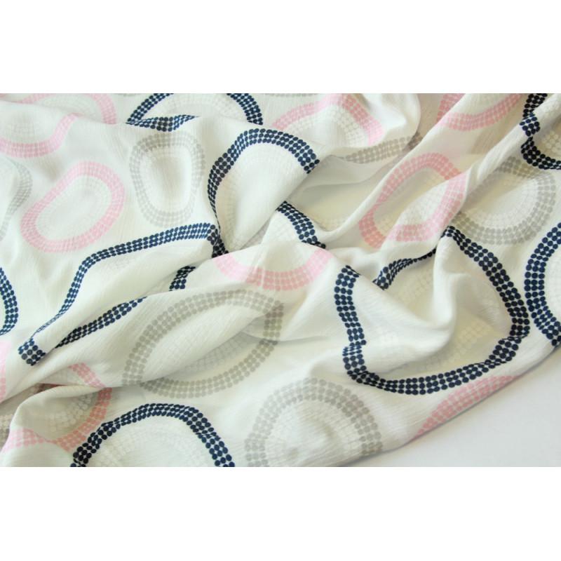 Плательно-блузочная ткань-марлевка с печатью