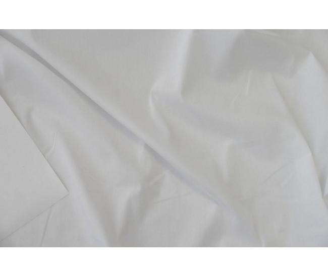 Плательно-рубашечный хлопок стрейч.   Цвет белый