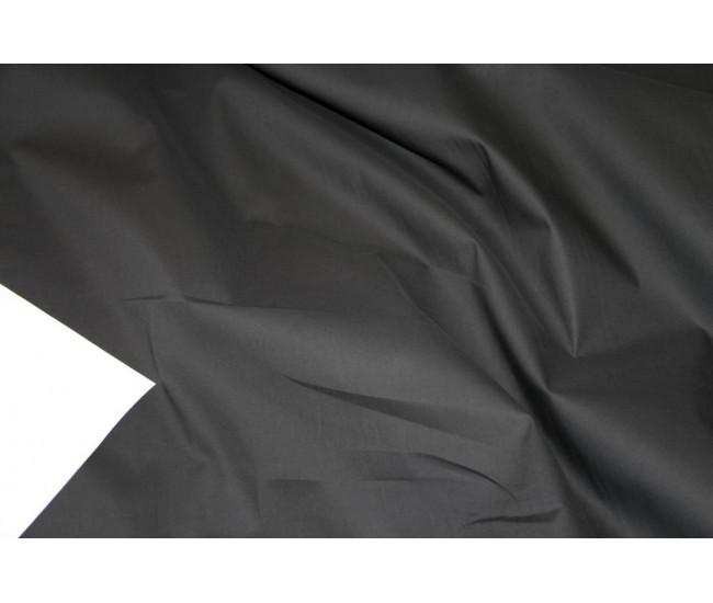 Плательно-рубашечный хлопок стрейч.   Цвет черный.