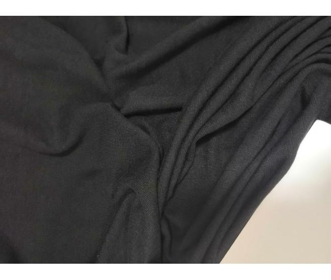 Супер мягкий  трикотаж, цвет черный,  отрез 2,4м