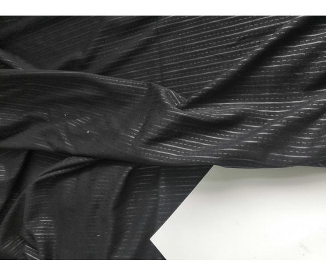 Костюмно-плательный жаккардовый трикотаж джерси,Отрез 4,2м  цвет черный