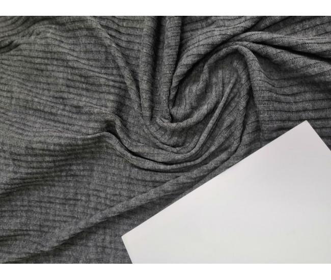 Трикотаж резинка ,цвет серый, мягкий, пластичный,приятный,слегка светит,  Отрезы 1,7м+ 0,65м.