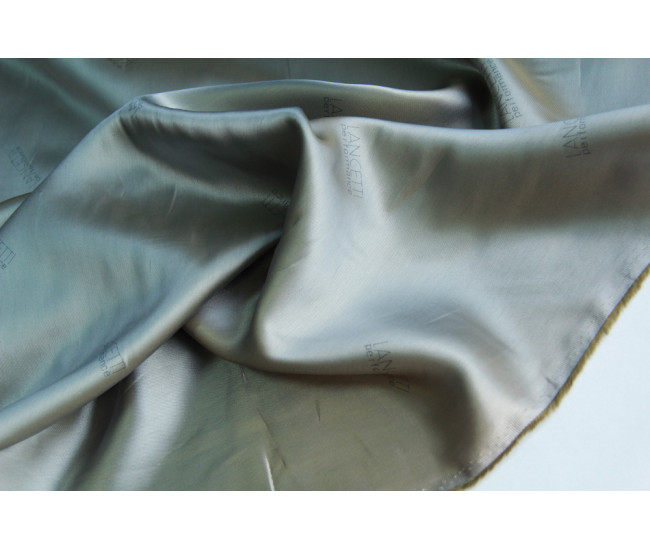 Подкладочная жаккардовая  ткань,  цвет хамелеон  серо-оливковый