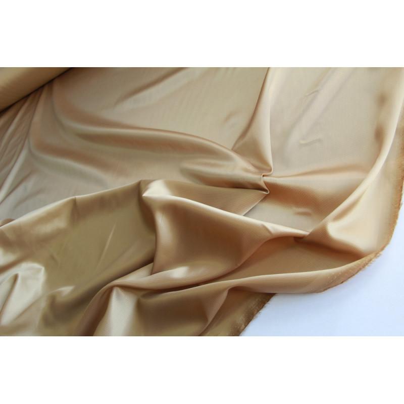 Подкладочная  саржевая ткань.   Цвет золотой песок.