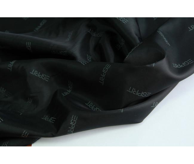Подкладочная ткань с печатью ESPIRIT ,  цвет черный