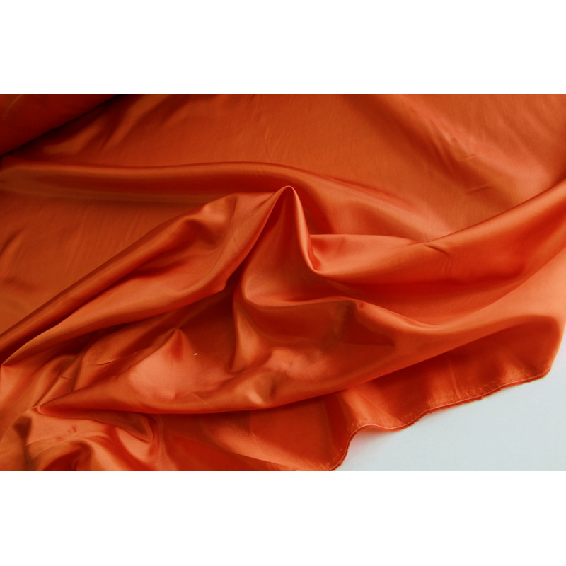 Подкладочная  ткань.   Цвет оранж.