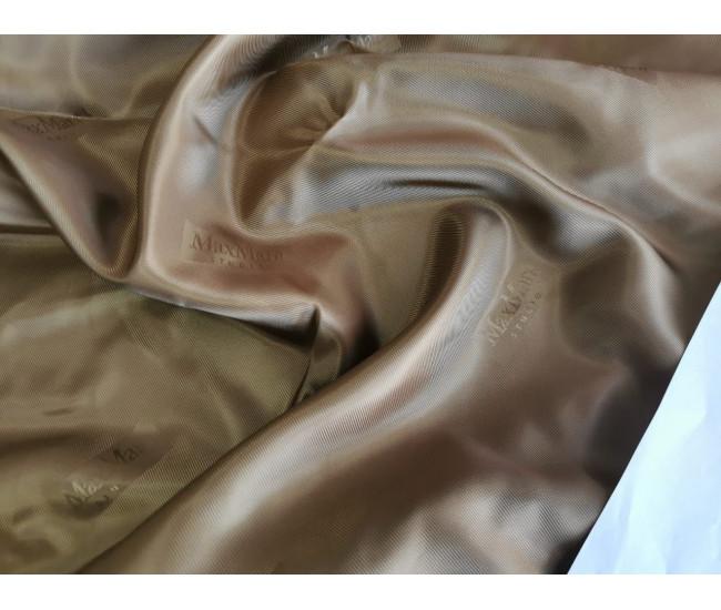 Подкладочная жаккардовая ткань MAX MARA  ,  цвет бежево-песочный приятная