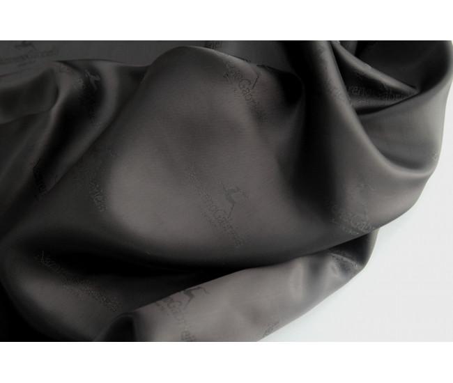 Подкладочная жаккардовая ткань,  цвет черный