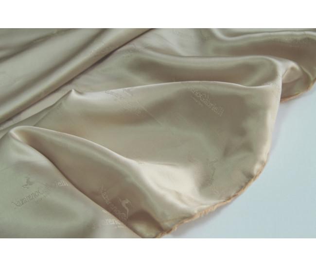 Жаккардовая подкладочная ткань Nazareno Gabrielli,  цвет светло-бежевый