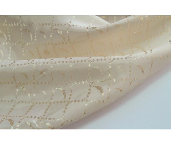 Жаккардовая подкладочная ткань,  цвет светло-бежевый с чуть персиковый оттеноком