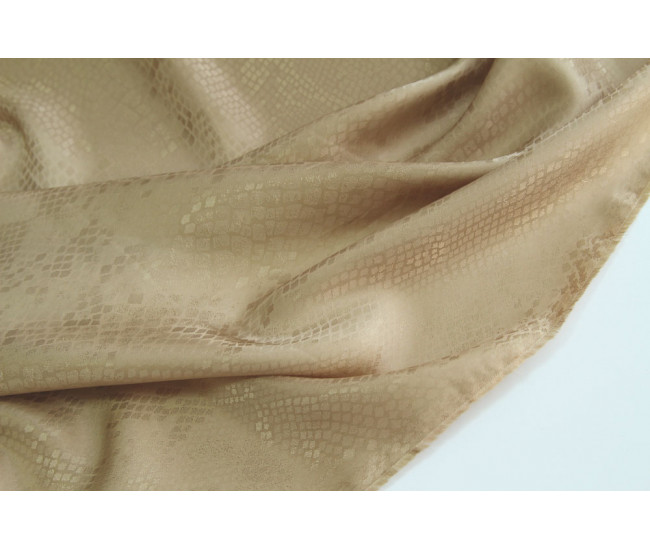 Жаккардовая подкладочная ткань,  цвет бежевый