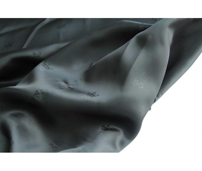 Жаккардовая подкладочная ткань DG,  цвет черный