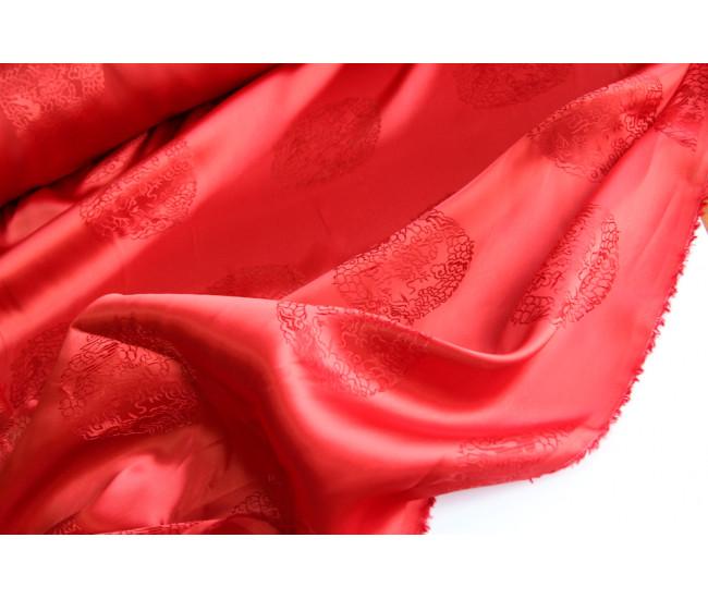 Жаккардовая подкладочная ткань Kenzo,  цвет красный