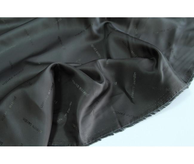 Жаккардовая подкладочная ткань Pierre Cardin,  цвет темно-серый