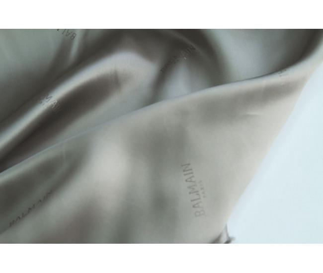 Жаккардовая подкладочная ткань Bamain,  цвет серо-стальной