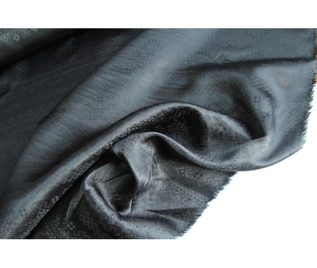 Жаккардовая подкладочная ткань,  цвет черный
