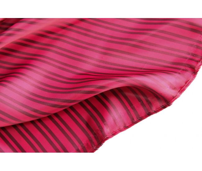 Подкладочная ткань в полоску,  полоска поперек кромки,  цвет розово-серый