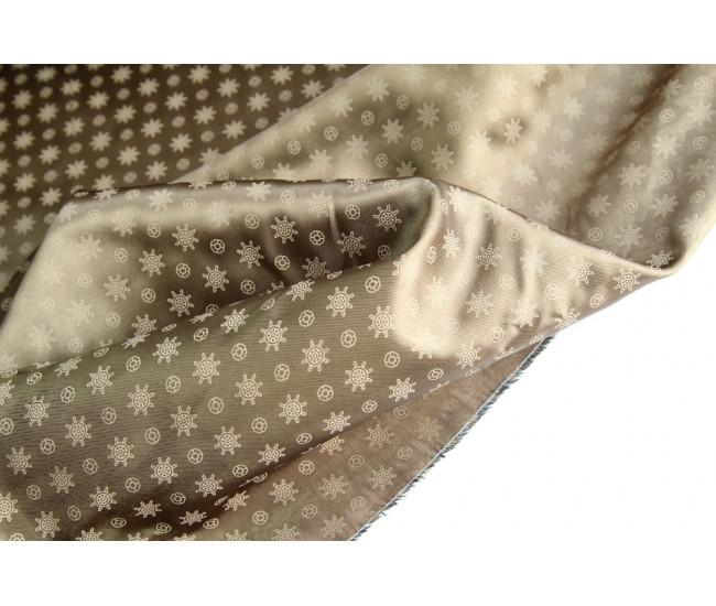 Подкладочная ткань с печатью,  цвет темно-бежевый