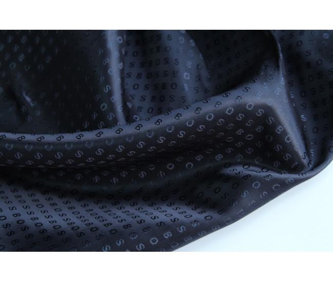 Подкладочная жаккардовая  ткань  Hugo Boss,  цвет темно-синий
