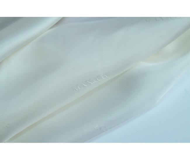 Подкладочная жаккардовая  ткань  Max&C(Мах Mara) ,  цвет молочный