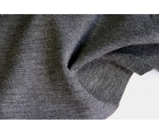Костюмный шерстяной трикотаж,  цвет серый меланж
