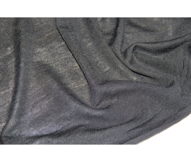 Шерстяной трикотаж,  цвет черный