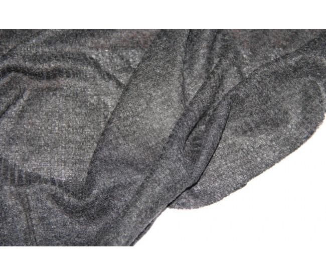 Трикотаж   фактурный, цвет серый-меланж