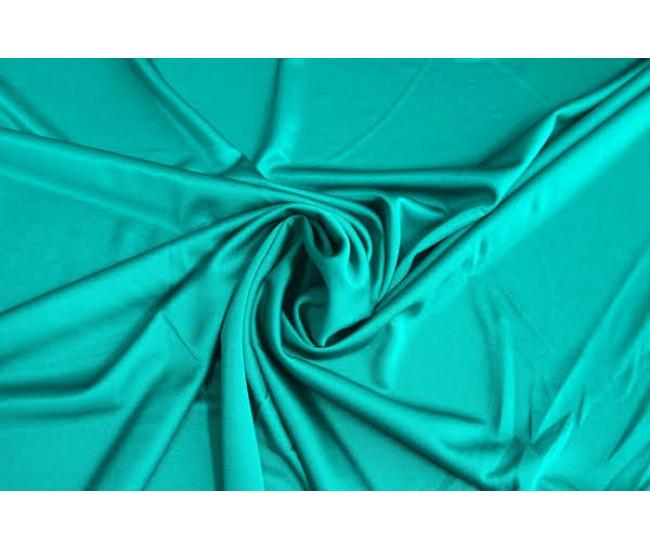 Шикарный шелковистый двусторонний трикотаж цвет ярко-бирюзовый