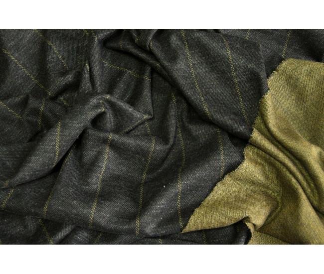 Костюмно-плательный трикотаж.   Цвет черно - горчичный.