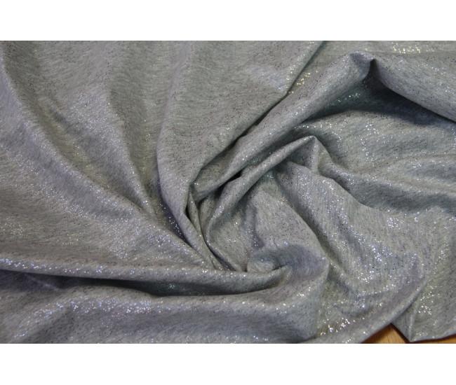 Вискозный трикотаж с напылением,  цвет серебристо-серый