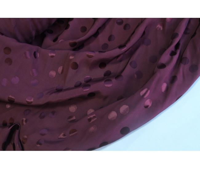 Плательно-блузочная жаккардовая вискоза-кади ,  цвет винный