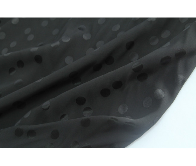 Плательно-блузочная жаккардовая вискоза-кади ,  цвет черный