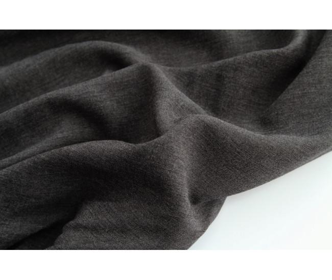 Костюмно-плательная двухсторонняя вискоза, цвет серый меланж