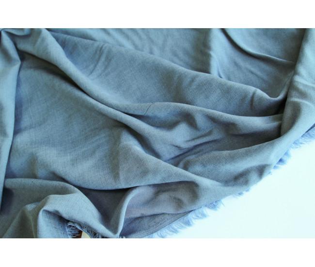 Костюмно-плательная двухсторонняя вискоза, цвет серо-голубой.