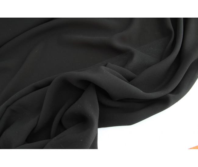 Плательно-блузочный креп, цвет черный.