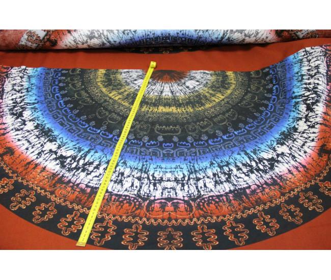 Плательная купонная вискоза с печатью (купон 0,87м.).     Ткань мягкая, пластичная, непрозрачная.