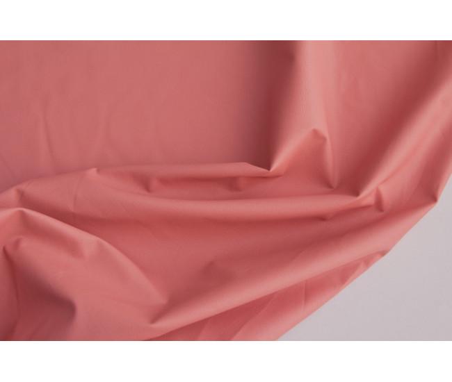 Экокожа на тканой хлопковое основе (хлопок 100%).   Цвет розово-коралловый
