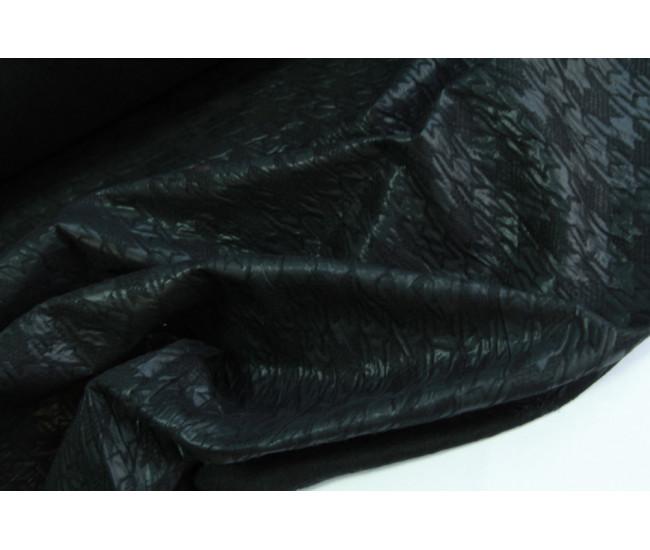Экокожа на войлочной подложке,   цвет черный